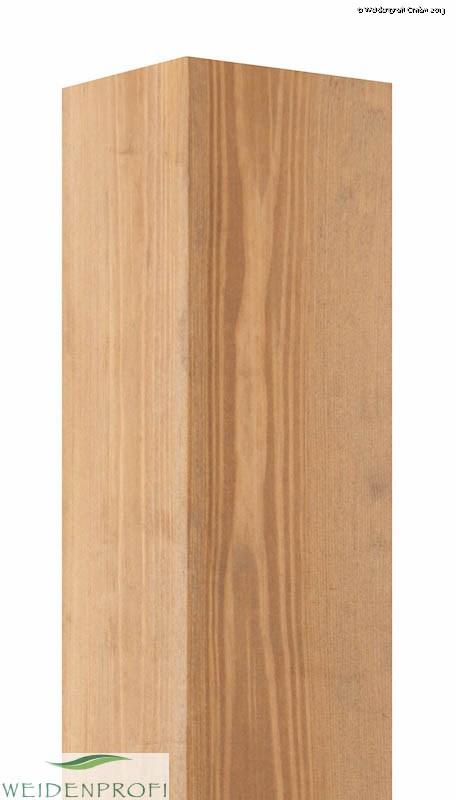 Holzpfosten Kiefer quadratisch, gebeizt, 9 x 9 x 160