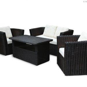 Weidenmöbel MODERNO, Lounge-Sessel mit Polster, 80 x 70 x 70