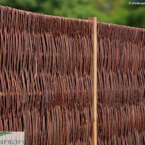 Weidenzaun LATO Solid, senkrecht geflochten, 120 x 200
